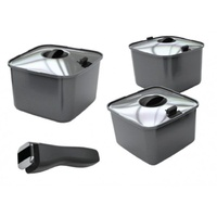 SMARTSPACE POTS WITH LIDS - EA