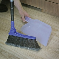 CAMCO ADJUSTABLE BROOM W/CLIP ON DUST PAN. 43623 - EA