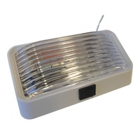 PORCH LIGHT C/W SWITCH WHITE BASE-CLEAR LENS 12V. 3078517 - EA