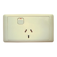 CMS SINGLE BEIGE 10AMP POWER OUTLET W/20AMP INSTALL COUPLERS. J16.1BG - EA