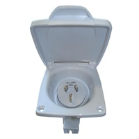 CMS 15AMP PLUG POWER INLET WHITE. JIL15