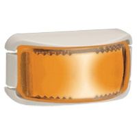 L.E.D SIDE DIRECTION INDICATOR LAMP AMBER - WHITE BASE. 91642W