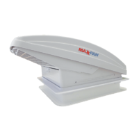 Maxxfan Deluxe with Rain Dome,T/Stat and Manual Lift.356mm x 356mm.00-05100KI