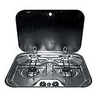SMEV 2 BURNER COOKTOP FLUSH MT S/S C/W GLASS LID & 12V IG. 9102302654 - EA