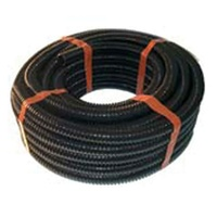 "BLACK CONCERTINA HOSE 10M ROLL 1"" (27MM ID). - EA"