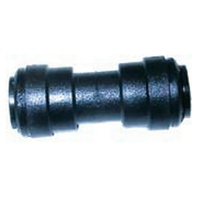 JG PLASTIC 12MM STRAIGHT CONNECTOR. PM0412E - EA