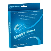 HAPPY BOWL TOILET BOWL LINERS-50 PER PACK. HB-1212MC - EA