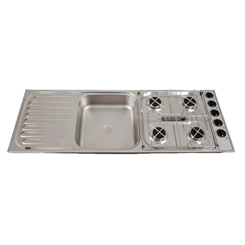 THETFORD SPINFLO COMBO UNIT 4 BURNER+GRILL+SINK S/STEEL. SCU68443Z - EA