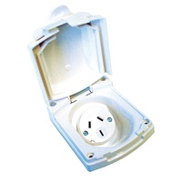 CLIPSAL (NEW) WHITE EXTERNAL 10 AMP POWER OUTLET. V415VFWE - EA